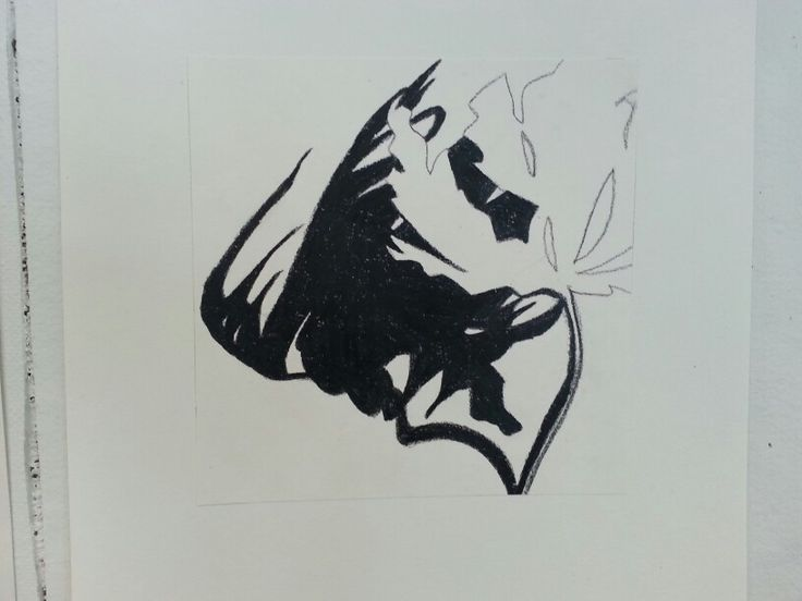 Leaf / shadow / drawing By Tina Nielsen
