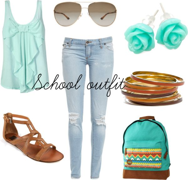 """""""School outfit"""" by fatima-ikanovic ❤ liked on Polyvore"""