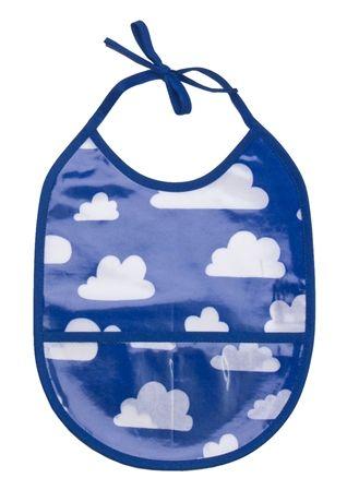 Färg & Form Haklapp Moln Blå | Babyprodukter Mata | Jollyroom