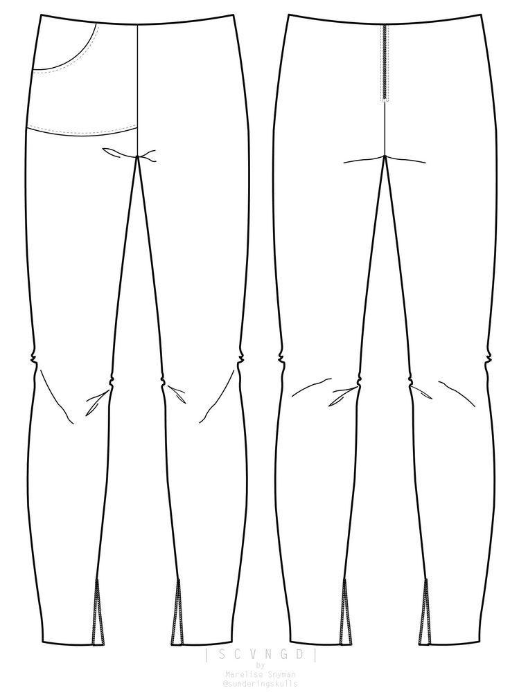 Popular Jersey Trousers 112012 135  Sewing Patterns  BurdaStylecom