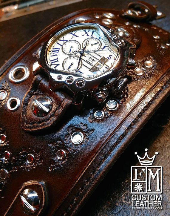 Hey, I found this really awesome Etsy listing at https://www.etsy.com/listing/128221628/leather-cuff-watch-distressed-brown