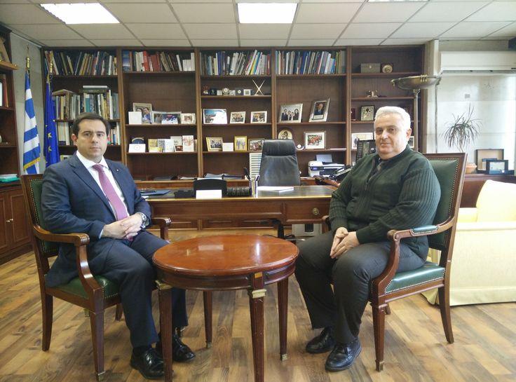 Συνάντηση Ν. Μηταράκη με το νεοεκλεγέντα Πρόεδρο του Νομικού Συμβουλίου του Κράτους, κ. Μ. Απέσσο