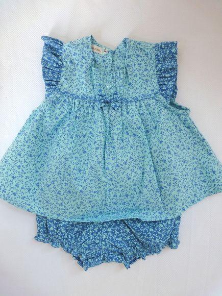 Conjunto Florida - Floral azul 1