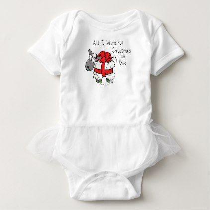 #cute #baby #bodysuits - #All I Want for Christmas is Ewe Sheep Cartoon Baby Baby Bodysuit