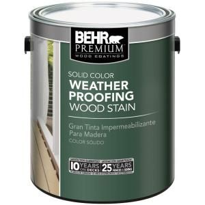 BEHR Premium 1 gal. White Solid Weatherproofing All-In-One Wood Stain and Sealer 501101 at The Home Depot - Mobile
