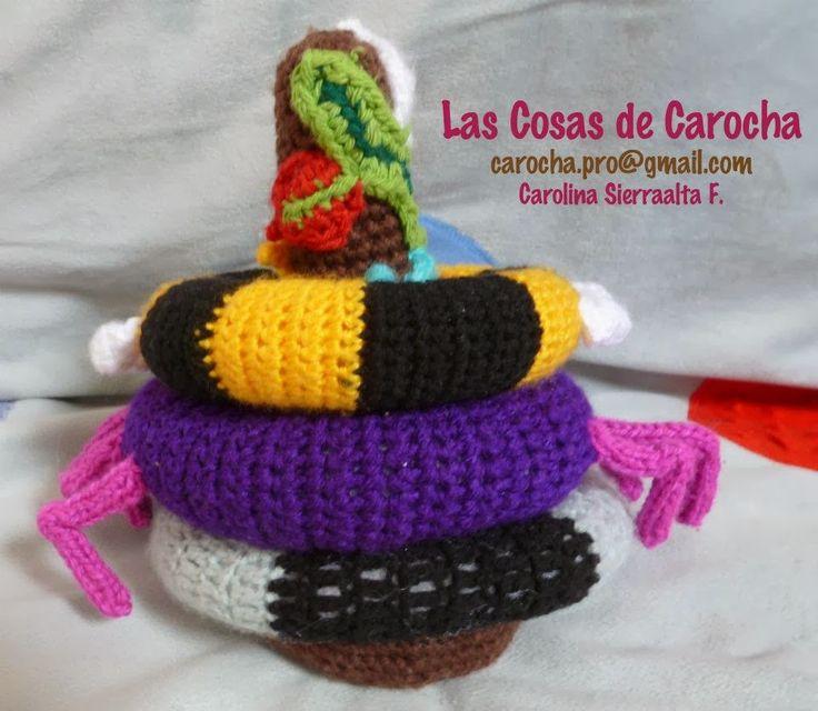 Juego de aros a crochet para bebe