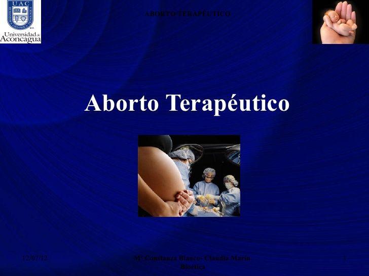 Aborto Terapéutico