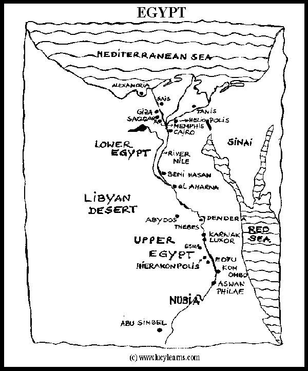 Map Of Egypt For Kid Egypt Printable Coloring Pages Ancient