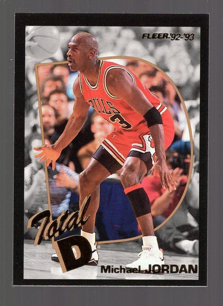 1992 93 Fleer Total D 5 Michael Jordan NR MINT MichaelJordan Sportscards