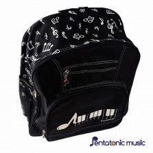Note Keyboard Bagpack - Black