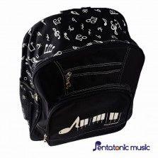 Note Keyboard Bagpack - Black