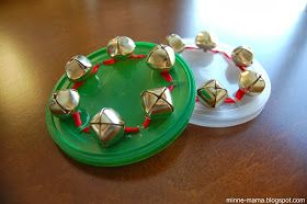 Musical instrument - I have quite a few formula can lids to make these!
