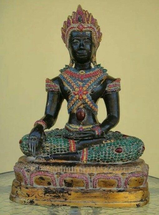An antique Thai Buddha from the Temple of Emerald Buddha