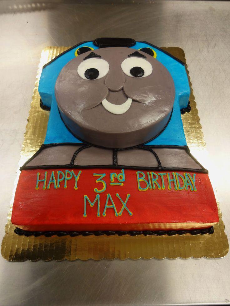 Thomas the train cake - butter cream only - Erin Miller Cakes - https://www.facebook.com/erinmillercakes