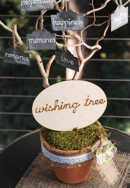 Miniature wishing tree idea.