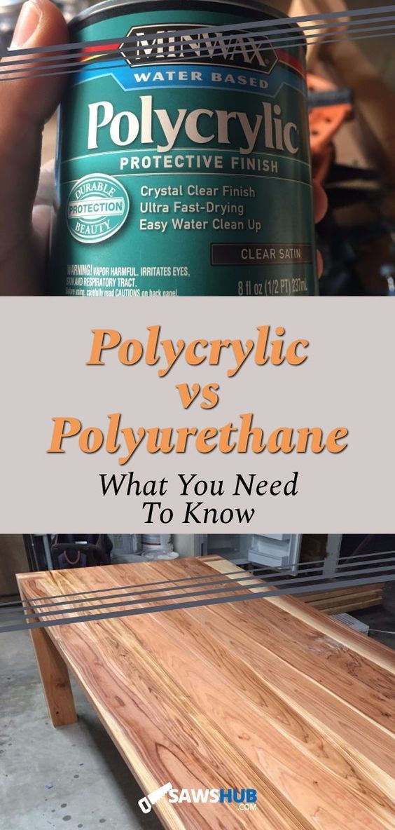 Polycrylic Vs Polyurethane When To Use Each Finisher Woodworking Projects Diy Diy Woodworking Woodworking Projects