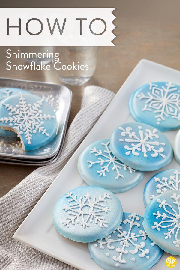 Snowflake Cookies With Royal Icing Recipe Cute Christmas Desserts Christmas Sugar Cookies Snowflake Cookies Decorating