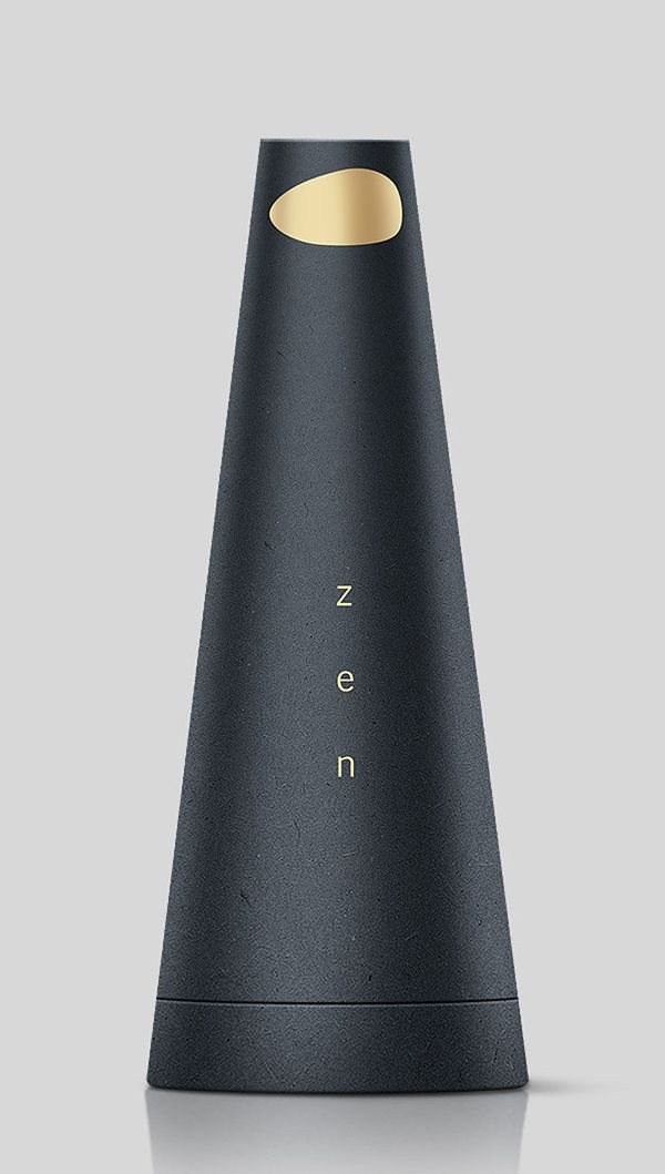 Package design black & gold Natural Zen Perfume package