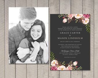 Modern Wedding Reception Invitation by vintagesweetdesign on Etsy