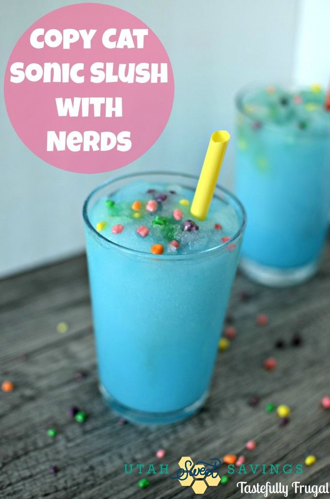 Copycat Sonic Slush with Nerds . . . my kids would LOVE this!