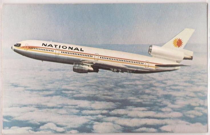 Vintage Aviation Postcard National Airlines DC 10 Jet in Flight c1970s Unused | eBay