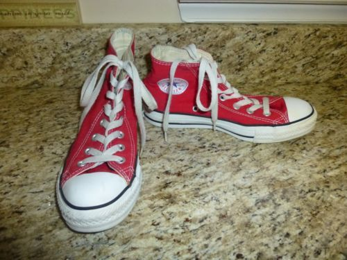 CONVERSE-ALL-STAR-WOMENS-SIZE-7-MENS-SIZE-5-RED-HIGHTOPS-NICE