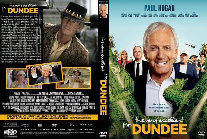 The Very Excellent Mr Dundee 2020 Dvd Custom Cover In 2020 Dvd Cover Design Custom Dvd Dvd Covers