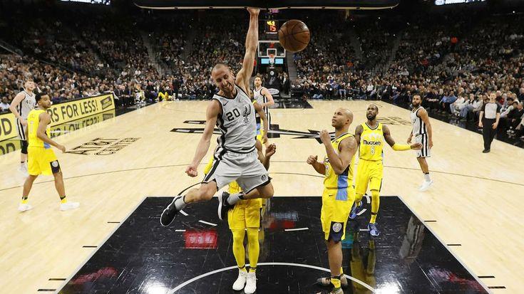 NBA | Ocho puntos y una volcada de Manu en la victoria de Spurs  Foto: WEB  El argentino convirtió ocho puntos dos de ellos con una espectacular volcada en el cómodo triunfo de San Antonio sobre Denver Nuggets 112-80 logrado como local por la fase regular de la NBA.  El bahiense sumó también dos rebotes y brindó una asistencia en los 17 minutos de presencia sobre la cancha del AT&T Center.  A falta de 45 segundos para el cierre del primer cuarto con el marcador 30-16 para su equipo el…