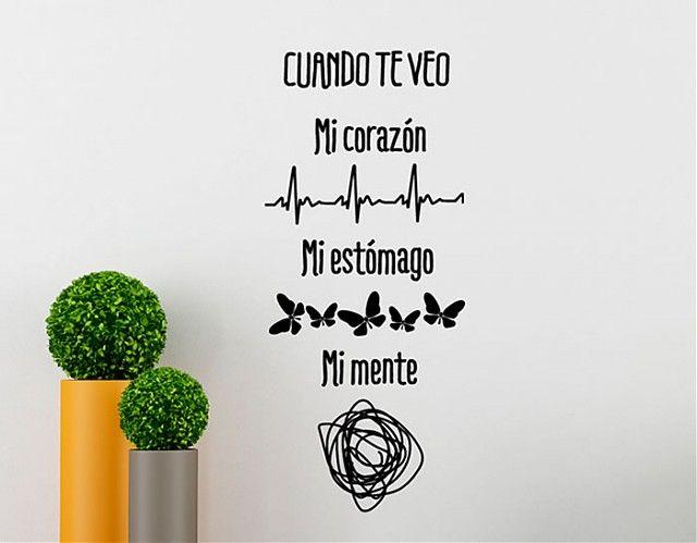 """#VinilosDecorativos #Textos """"Cuando te veo"""""""
