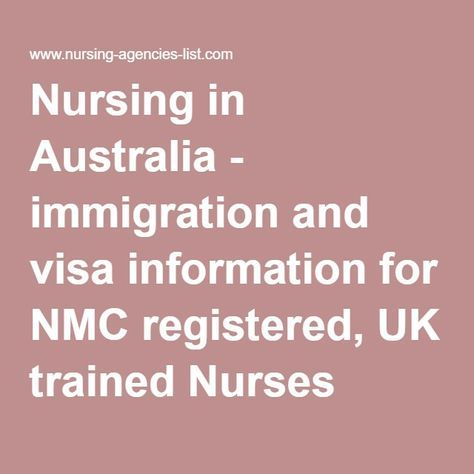 Nursing in Australia - immigration and visa information for NMC registered, UK trained Nurses