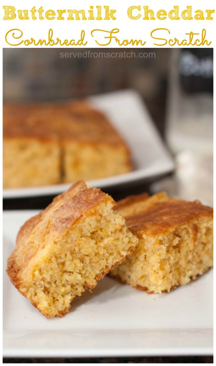 No need for a box. Make your own Easy Buttermilk Cheddar Cornbread From Scratch with just a few easy ingredients and less than 30 minutes!