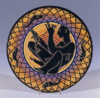 Corrado Cagli Pescatore, 1930 ceramica dipinta (piatto), ø 37 cm
