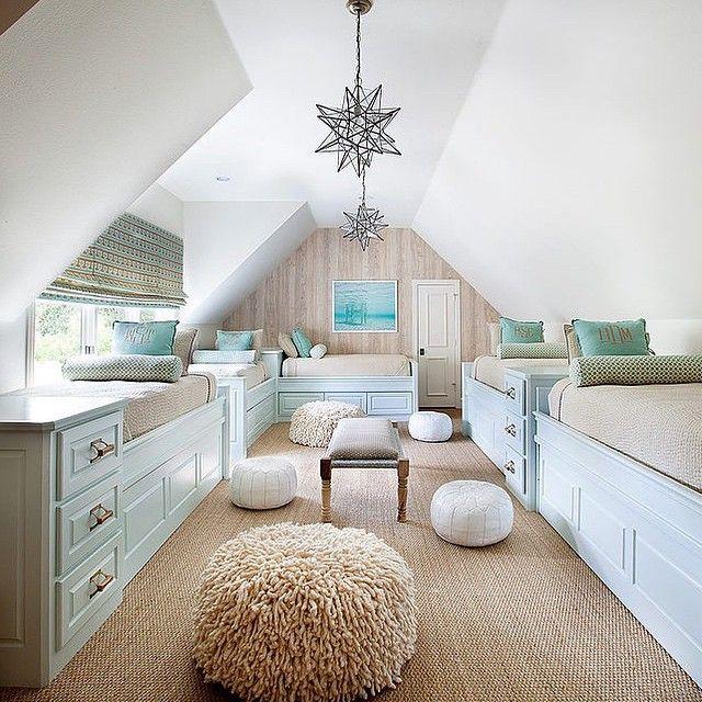 "Color palette for attic ""bunk"" room"