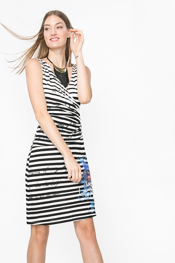 """Desigual's Striped """"Barack"""" dress is the right balance of classic and fun."""