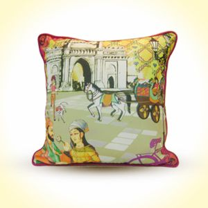 "The Royal Romance  Cotton Cushion Cover (16"" x 16"")  MRP - Rs. 599"