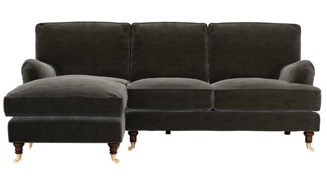 L shaped sofa   Vintage sofa   English sofa   Corner sofa   Chaise