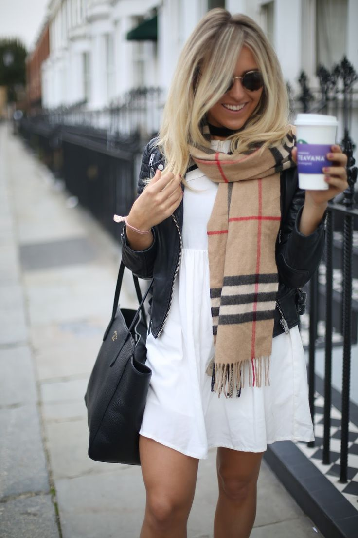 Styling up a Burberry scarf