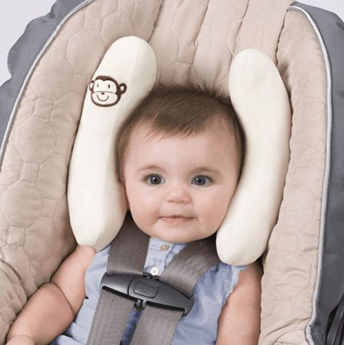 Cradler Adjustable Head and Neck Support Pillow for Car Safety Seat