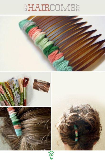 DIY Hair Comb diy craft crafts easy crafts craft idea diy ideas easy diy diy craft hair diy craft accessories hair crafts