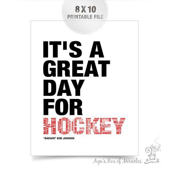Hockey Printable / Sports Digital File / Boys by AgasBoxOfMiracles
