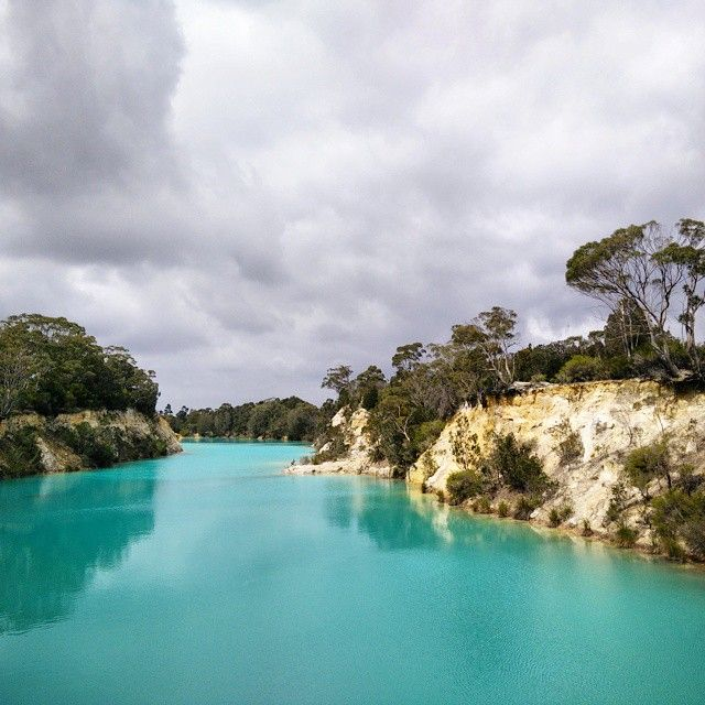One of those places you see and know you must visit to see if the colour is real. The astonishing Blue Lake is along the road from Barnbougle Golf Course and the quaintly named Tomahawk camping area in North East Tasmania. No matter whether it is a blue sky day or somewhat less, the waters are this unreal - you cannot describe it to anyone else - colour. Image credit: Sam Lin IG