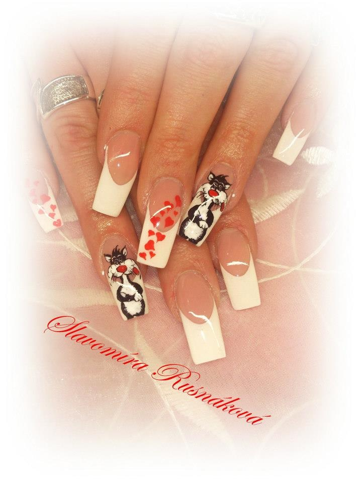 161 best Nails with cats images on Pinterest | Cat nails, Cat nail ...