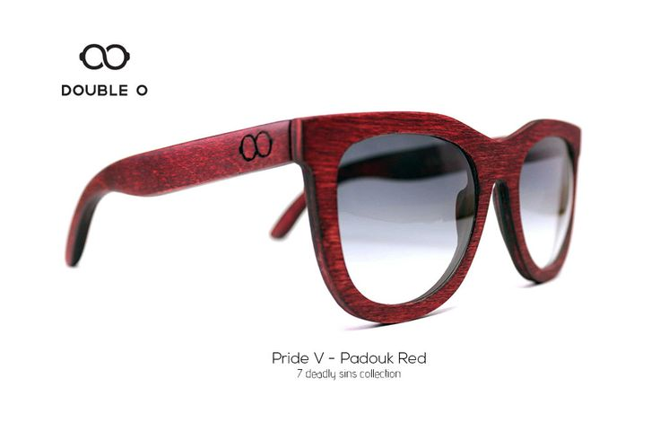 Pride V - Padouk Red / Handmade Wooden Sunglasses / Made in Crete,Greece