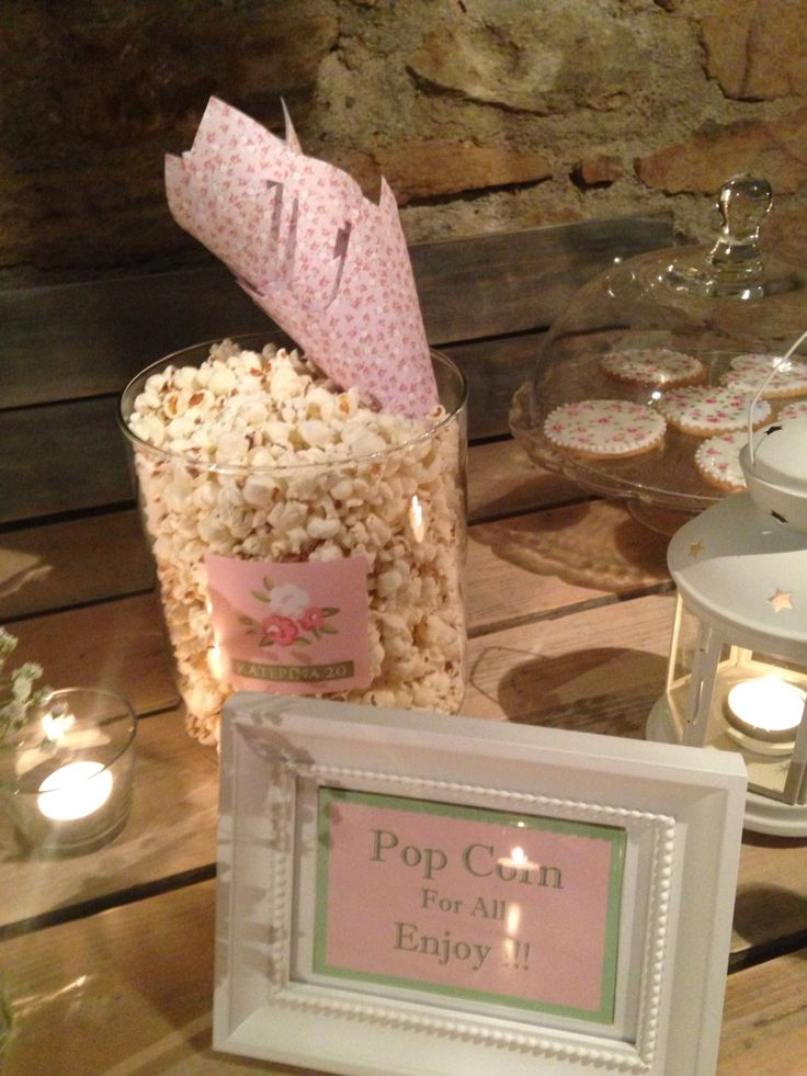 Pop corn decoration