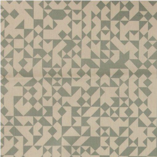 Tekstilvoksdug sand/støvet grøn grafisk