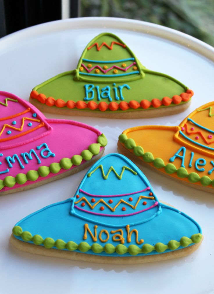 Sombrero Cookie Favors   Whipped Bakeshop