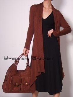Brown Silk Bamboo Cotton Draped Jersey Cardigan by YYStudio