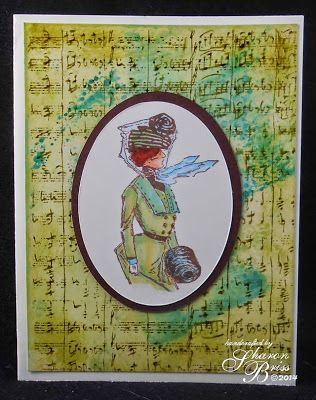 Ill Tempered Ink: A Touch of Teal - using Handwritten Music background from RRD's Behind the Scenes and Marjorie for RRD's Winter Women