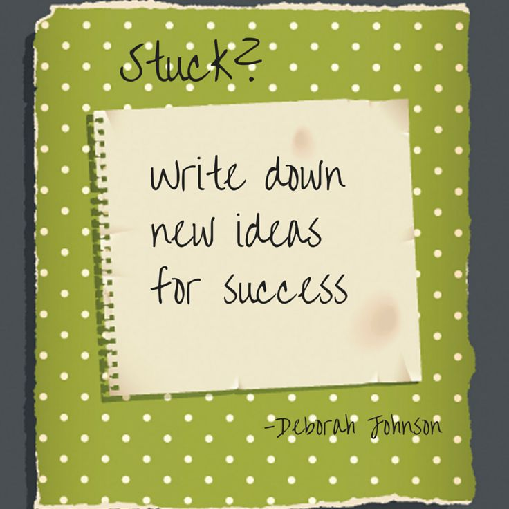Trapped, Feeling Stuck? It may be time to rip the page of old goals out of the notbook & get a new napkin of ideas. From the book Stuck is Not a Four-Letter Word, p.11-12 http://amzn.to/138uOgc