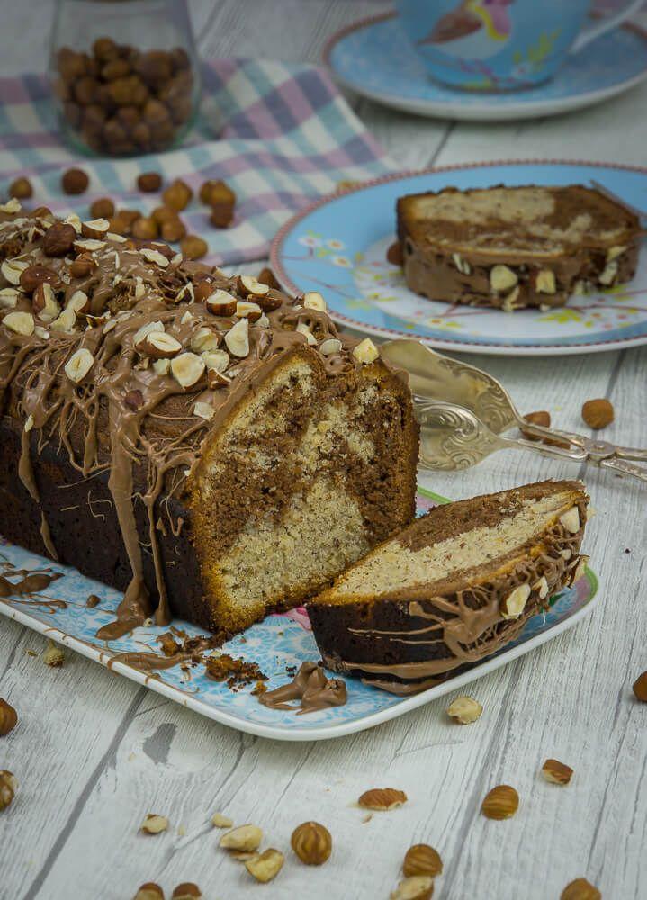 Nutella Nuss Marmor Kuchen